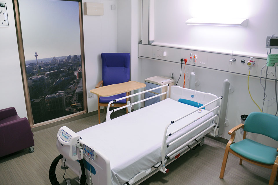 Single and private hospital rooms